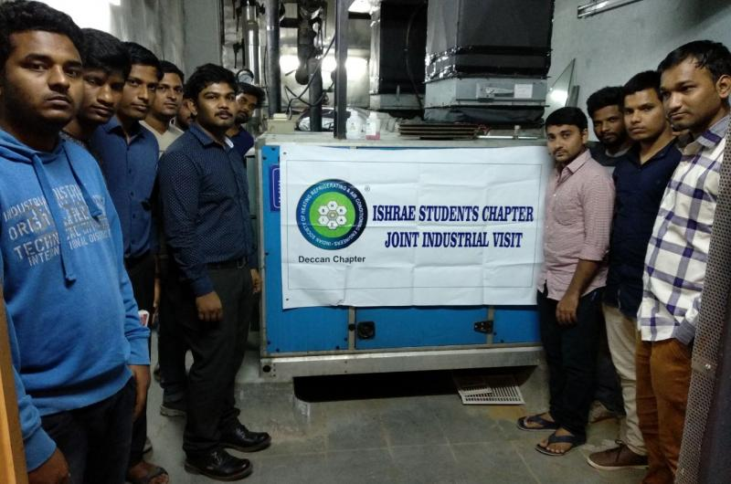 Our HVAC and Electrical students were taken for a 3 days Site visit to IMAX Prasads in Hyderabad